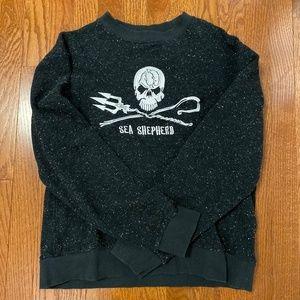 Sea Shepherd HoodLamb Hoodie Gray Black - Medium